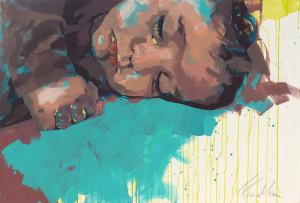 Sleeping baby - 120x80 cm - Acryl auf Leinwand - 2015